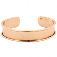 DQ metal bracelet base (for 10mm cord/leather) Rose gold (nickel free)