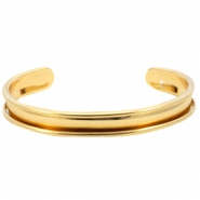DQ metal bracelet base (for 5mm cord/leather) Gold (nickel free)