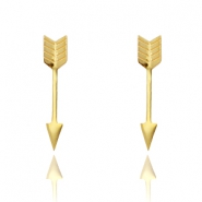 Stud earrings stainless steel arrow Gold