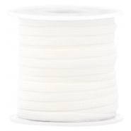 Trendy 4mm flat surfcord White