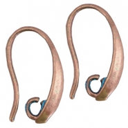DQ findings earrings Copper blue patina (nickel free)