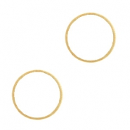 DQ metal charms circle connector 14mm  Gold (nickel free)