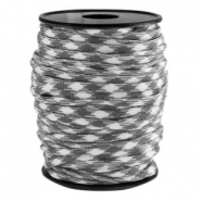 Round trendy 4 mm paracord grey-white