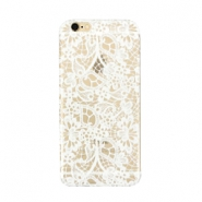 Telephonecase lace for Iphone 5 Transparent - white