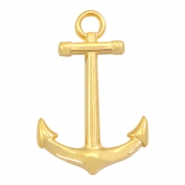 DQ metal charms anchor 30mm Gold (nickel free)