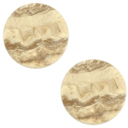 20m flat Polaris Elements cabochon stone look Hay beige brown