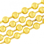 DQ ball chain 2mm DQ Gold durable plated