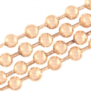 DQ ball chain 1.2mm DQ Rose Gold durable plating