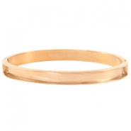Stainless steel bracelets (for 5mm flat stringing material) Rose gold