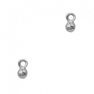 TQ metal charms little bells 5mm Antique silver