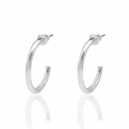 Trendy earrings hope small Silver