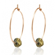 Trendy earrings stone Rose Gold