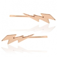 Trendy earrings thunder Rose Gold