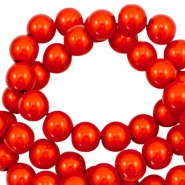 Miracle 3D beads 6mm Electric Orange