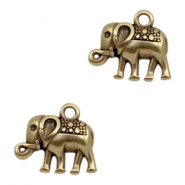DQ metal charms elephant Antique Bronze (nickel free)