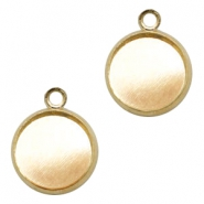 Settings charm metal for cabochon 12mm Gold