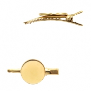 Settings hair clip metal for cabochon 20mm Gold