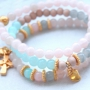 Trendy soft coloured jewellery and accessories with crackled opal glassbeads