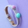 Fun Cuoio bracelets for the little ones with bright Polaris Elements cabochons